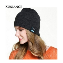 XUNIANGE Beauty New Soft Warm Beanies Hat Wireless Bluetooth Smart Caps Headset Headphone Speaker Mic Fast Shipping Wholesale
