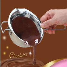 New Stainless Steel Chocolate Pot Melting Furnace Milk Pot Heated Butter Milk Tool Baking Pastry Tools Heated Bowl with Handle(China)