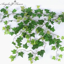 Artificial leaves vine hanging simulation green plant 110cm hotel background wall decor wedding decoration for home shop window(China)
