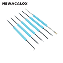 NEWACALOX Solder Assist Precision Electronic Components Welding Grinding Cleaning Repair Tool Kit Assembly Hand Tool 6pcs/set(China)