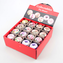 48pcs/lot floral design mini storage tin box organizer pillbox jewelry container girl favor household lovely iron box B85326357