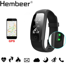 ID107 Plus GPS Smart Bracelet Heart Rate Monitor Pedometer Band Bluetooth Fitness Activity Sports Tracker Wristband for phone