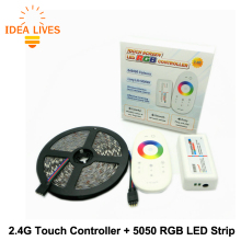 5050 RGB LED Strip 5m + 2.4G Touch controller DC12V 60LED/m RGB Flexible LED Light Sets.