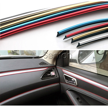 Car Interior Decoration Moulding 5M For Mitsubishi ASX Lancer 10 9 Outlander Pajero For Suzuki Swift Grand Vitara SX4 Vitara