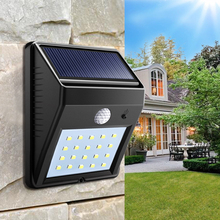 PIR Infrared Motion Sensor Solar Powered LED Street Lights IP65 Waterproof Outdoor LED Solar Lamp Garden Path LED Bulb