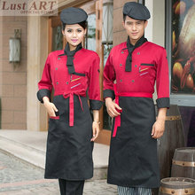 Food Service chef jacket chinese clothing store restaurant hotel kitchen chef uniform women men black cook clothes B059C