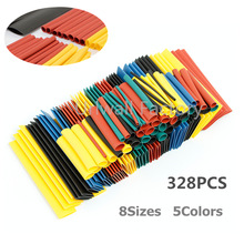 328pcs Cable Sleeve Heat Shrink Tubing 2:1 Polyolefin Shrinking Assorted Wrap Wire Insulated shrinkable sleeving Tubes Set