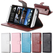 FLOVEME M7 Leather Case Wallet Cover For HTC ONE M7 Flip With Card Slot & Stand Function CellPhone Case Holster Capa For HTC M7(China)