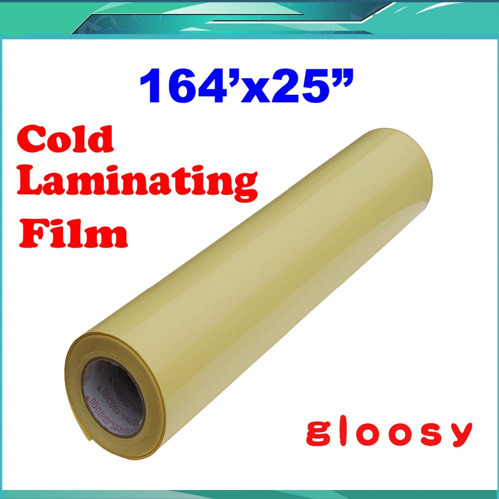 25X164(0.63x50M) Gloosy UV Luster Cold Laminating Film Protect Photo For Cold Laminator<br>
