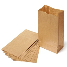 10pcs Kraft Paper Bags Bread Food Bags Small Gift Bags Bread Food Bag Party Decoration Wedding Decoration Favors and Gifts-B(China)