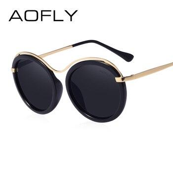 Aofly marca 2017 design de moda óculos de sol das mulheres óculos de sol revo lens shades lunettes de soleil feminino com caixa uv400 af7910
