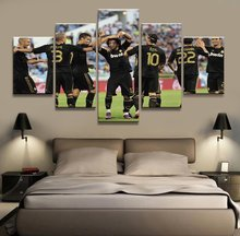 5 Panel Real Madrid SuperStar Canvas Printed Painting For Living Picture Wall Art HD Print Decor Modern Artworks Football Poster