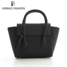 Herald Fashion Vintage Women Designer Inspire Tote Trapeze Big Ears Smiley Swing Bag Celebrity Handbag Small Women Shoulder Bag