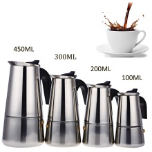 Stainless Steel Moka Coffee Maker Mocha Espresso Latte Stovetop Filter Coffee Pot Percolator Tools Cafetiere Coffee Maker Pot(China)