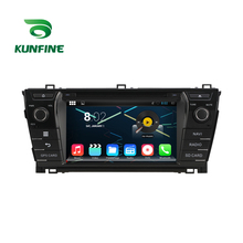 Quad Core 1024*600 Android 5.1 Car DVD GPS Navigation Player Car Stereo for Toyota Corolla 2014 Radio 3G Wifi Bluetooth(China)