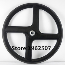Newest 700C Carbon 4 spoke wheel high performance clincher bicycle wheelset 3k carbon four spoke wheel with NOVATEC(China)