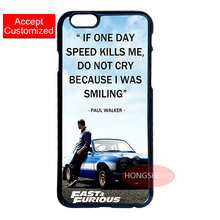 Fast and Furious Paul Walker Case for Samsung S3 S4 S5 Mini S6 S7 Edge Plus Note 3 4 5 iPhone 4 4S 5 5S 5C 6 6S 7 Plus iPod 5
