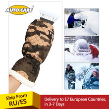 Premium Ice Scraper Mitt For Car Windshield Snow Scrapers with Waterproof Glove Lined of Thick Fleece to Keep Your Hands Warm(China)