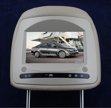 "High definition digital screen 8"" Car Headrest Monitor Player with touch button two videos input fit for Honda(China)"