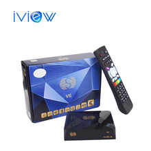 2016 Free Shipping 1pc Original S-V6 Mini HD Satellite Receiver S-V6 Support CCCAMD Newcamd WEB TV USB Wifi 3G Biss Key Youporn(China)