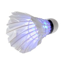 Wholesale 10* Wonderful Night Sport LED Badminton A Box 4 PCS LED Badmintons Shuttlecocks(China)