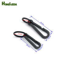 Wholesale 150pcs black KAM plastic snap clip hooks Mini carabiner backpack paracord strap hooks M-081