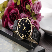 lady clock  new amazing wonderful popular practical hot  beautiful Women Geneva Faux Leather Analog Quartz Wrist Watch P*21
