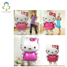 116cm/80cm Large and Medium Size Hello Kitty Cat Foil Inflatable Air Balloon Wedding Birthday Party Decoration Balloon toy GYH