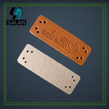 wholesale stock made with heart Leather labels leather sewing tags leather decoration for handwork custome clothes labels