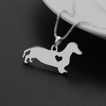Summer Jewelry 2017 Fashion Dog Shape Alloy Pendant Necklace Dachshund Charm Necklace