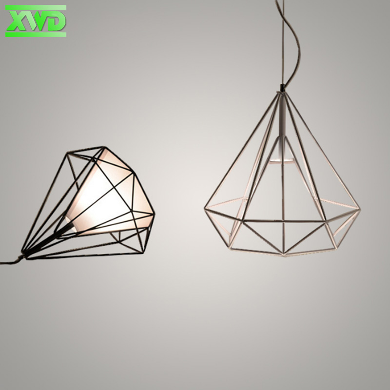 Vintage Diamond Iron Painder Pendant Lamp Coffee House/Dining Hall/Club/Foyer/BookSoter E27 110-240V Indoor Lighting<br><br>Aliexpress