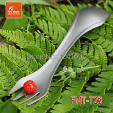 Fire Maple FMT-T23 Portable Foldable Camping Spork Titanium Knife Titanium Fork Cutlery Tableware 3 in 1 Spoon/Fork/Knife