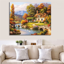 WONZOM Wonderland Oil Painting By Numbers On Canvas Diy Wall Pictures For Living Room Frameless Digital Coloring By Numbers(China)