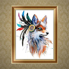 2017 DIY 5D Diamond Embroidery Animal Painting Cross Stitch Art Craft Home Wall Deco MAR23_17