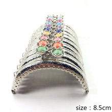 20pcs/10pcs 8.5CM Lotus head Bag Kiss Clasp silver semicircle Metal Coining Pattern Purse Frame DIY Bag Sewing Accessories AU519(China)