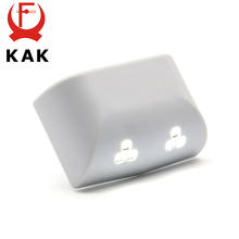 2PCS KAK Universal 0.25W Inner Hinge Six LED Sensor Night Light For Kitchen Bedroom Living Room Cabinet Cupboard Closet Wardrobe(China)