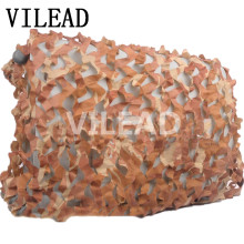VILEAD 2M Desert Camouflage Net Military Camo Netting for Sniper Paintball Game Outderdoor Shade Beach Sunshade Car Cover Awning