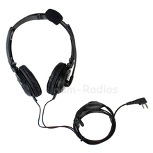 2 Pin VOX PTT MIC Sponge Earpiece Folding Headset for ICOM Radio IC-F3 IC-F4 IC-F24 IC-F11 IC-F21 IC-F21S IC-F22 IC-F22S