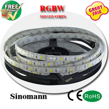 rgbw led strip Light Waterproof DC12V SMD 5050 5M/roll IP65 60Leds/M 300 LEDS/roll led rgbw Flexible Bar Light for home deco
