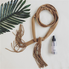 [LESIDA] Long Narrow Cotton Scarf Solid Candy Color Tassel Ribbon Women Lady Unique Necklace Scarf Headband Sjaal 140*5CM 3050