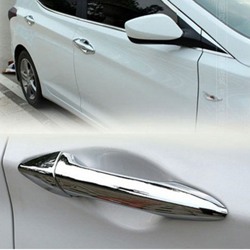 Chrome Head Lights Lamp Molding Trim Covers 2pcs Set for 2011 2012 2013 Hyundai Elantra 4 Door Sedan