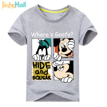 Jiuhehall 2017 Baby Cartoon Printed Tee Tops Children Mouse Printing Short Sleeve T-shirt Kids Summer Cotton Clothes ACM043