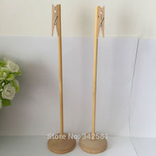 10x Tall 30cm Table Number Stands 55mm Base | Place Cards | Table Number Holder 4.8cm Clothespins | Wedding Party Baby Shower