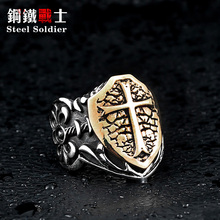 steel soldier man biker ring personality Stainless Steel Knights Ring factory direct sale jewelry