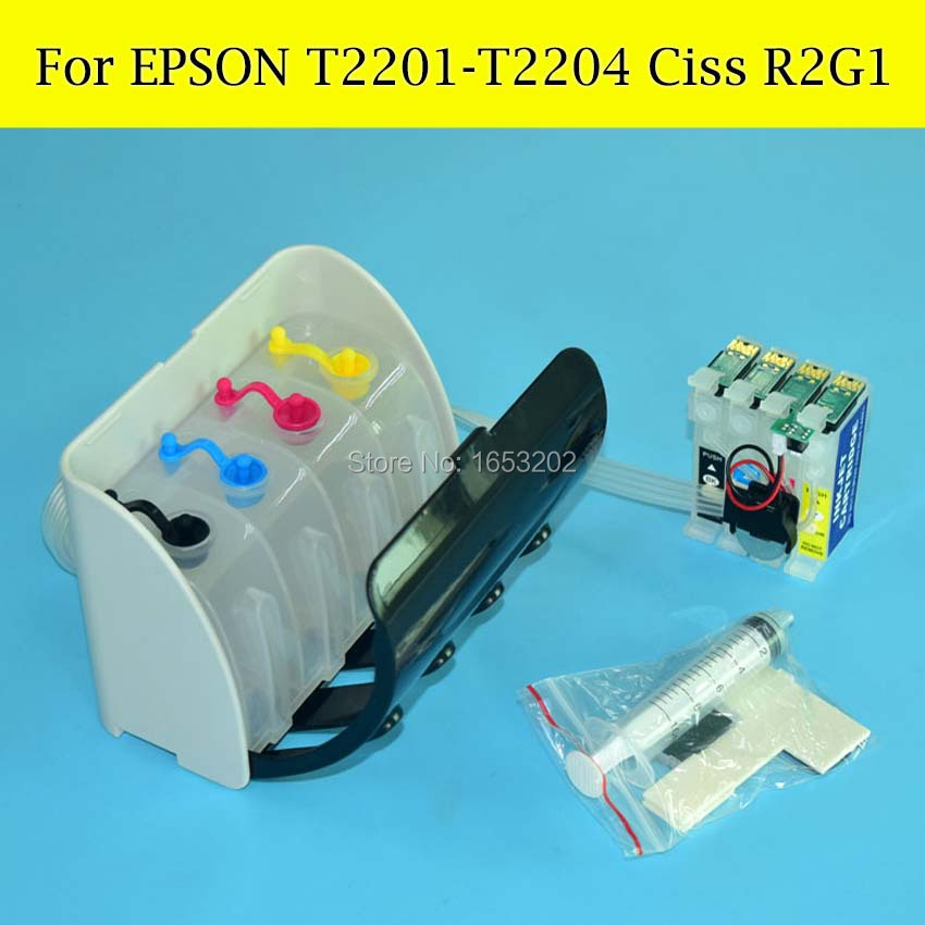 1 Set T252 Ciss System For Epson T2521 T2522 T2523 T2524 WF-3620 For Epson WF-3640 WF-7610 WF-7620 With ARC Chips<br><br>Aliexpress