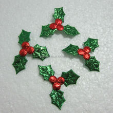 60pcs Embossed leaves Scrapbook Appliques/ craft/ Christmas decoration -A246(China)