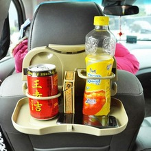 Car Vehicle Folding Dinning Tray Drink Cup Holder Seat Back Table Foldable Organizer Travel Accessories