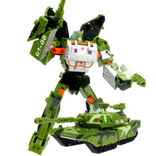 New Arrival Green Tank 19cm Classic Education Plastic Big cool Transformation Robot /tank toy Wholesale With Retail Box for kid
