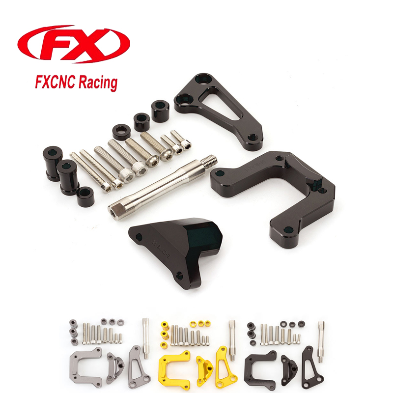 FX CNC Adjustable Steering Stabilize Damper Bracket Mounting Kits Fit for Yamaha M-SLAZ Motorcycle Accessories Support<br>