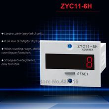 6-digit LED Digital Display Counter Wide Counting Range 10 Years Power-off Memory ZYC11-6H
